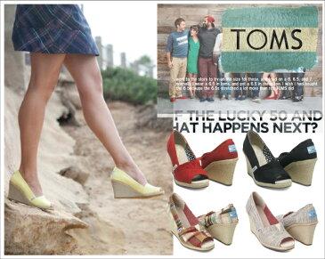 TOMS shoes トムズ シューズCanvas Women's Wedgesキャンバス ウーマン ウェッジ サンダル レディース  靴 ソルドス エスパドリーユ メンズ レディーススリッポン フラットシューズ サンダル 【西日本】