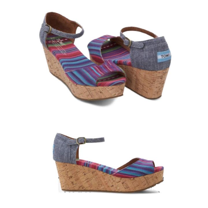 サンダル, その他 TOMS shoes Womens Platform Wedges