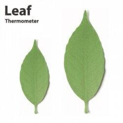 Leafは色で感じる温度計です。20〜25℃程度の時はキレイな緑色ですが、寒くなると焦げ茶...