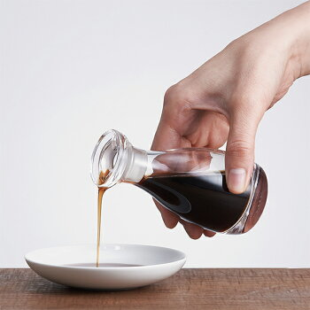 THE醤油差しCLEAR80ml液だれしない醤油差し醤油瓶醤油さし木箱付き