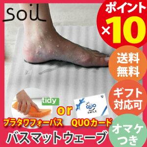 soil wave ソイル バスマット ウェーブ 珪藻土 速乾 吸水 防菌 お風呂 足拭きマット JIS-B255