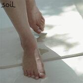 【店舗在庫限り】soil ソイル 珪藻土 バスマット ライト 軽量 湿気 速乾 調湿 衛生的 バス用品 BATH MAT light JIS-B246