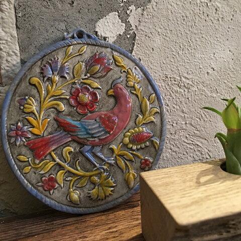 イタリア直輸入タイルBird of paradise (Red)