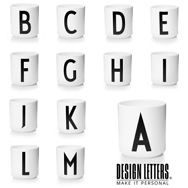 PERSONAL PORCELAIN CUPS BY DESIGN LETTERS デザインレターズ  パーソナル ポーセリンカップ A-M