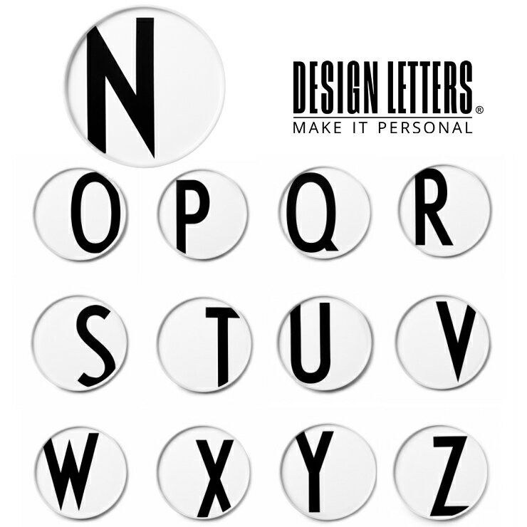 PERSONAL PORCELAIN PLATES BY DESIGN LETTERS デザインレターズ ポーセリン レタープレート N-Z イニシャル お皿 食器 小物入れ