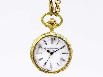 【送料無料】Gothic Laboratory Classic Pocket watch White手作りネックレス【rakutenshop De'...