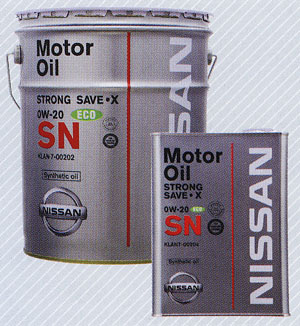 NISSAN 日産 純正 エンジンオイル SNストロングセーブX 0W-20 20L 缶