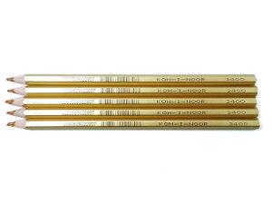 チェコの文具【KOH-I-NOOR/コヒノール】 マーブル色鉛筆 金軸 3400