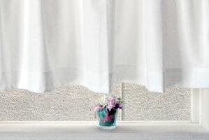 ★人気の小窓用スタイルデザインレースカーテン★【Risoniリソーニ・ショート】(140cm幅×90cm丈)