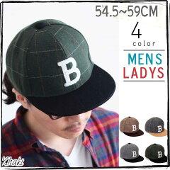 ┣ ┫帽子/チェック柄カラーブロック秋冬BBキャップ野球帽/メンズもレディースも使用OKの帽子で...