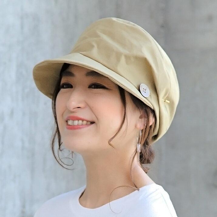 帽子 キャスケット レディース キャス コットンエスカルゴキャスケット 小顔効果抜群のアレンジキャスケット レディース 14+ メール便
