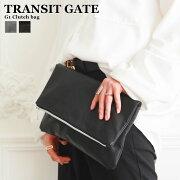 クラッチ ハンドバッグ フェイクレザー シンプル おしゃれ コンパクト セカンド 折りたたみ ブランド TransitGate