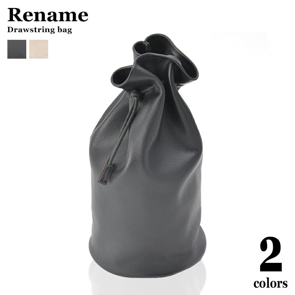 產品詳細資料,日本Yahoo代標|日本代購|日本批發-ibuy99|【 37%OFF SALE セール 】 【送料無料】 Rename リネーム 巾着バッグ 本革 本…