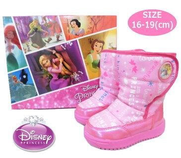 税込3680円【メール便不可】Disney ディズニープリンセス 防寒スノーブーツ ピンク ふわもこ 子供用 スキーブーツ こども靴 キッズシューズ キャラ靴 クツ くつ かわいい プレゼント クリスマス(7252-01 k390083)