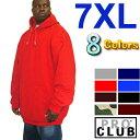 PRO CLUB (プロクラブ) 【全8色】【7XL】 ヘビーウェイト PROCLUB無地 プルオーバーフーディ (pullover)スウェット パーカー メンズ 大きいサイズ パーカ LL 2L 3L 4L 5L 7L
