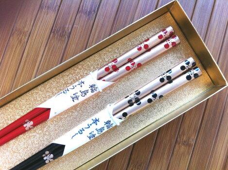 輪島塗箸梅鉢(夫婦箸