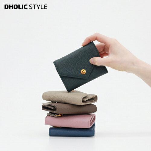 スマイルレザーミニウォレット・p112195 レディース 【bag】【韓国 ファッション 財布 カードケース ウォレット ミニウォレット ミニ 小型 牛革 レザー カジュアル シンプル かわいい フェミニン】【STYLE】