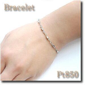 ブレスレットPt850(プラチナ)人気デザインです!プラチナのしっかり感♪【送料無料】