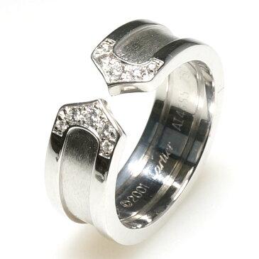 カルティエ Cartier ダイヤモンド diamond 2Cロゴリング Logo ring K18WG ホワイトゴールド リング 指輪 9号 【中古】 【送料無料】
