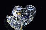 0.6カラットハートシェイプダイヤモンドDカラーフローレス最高品質タイプ2ダイヤ白いエンジェルハートさんダイヤGIA鑑定書刻印つき