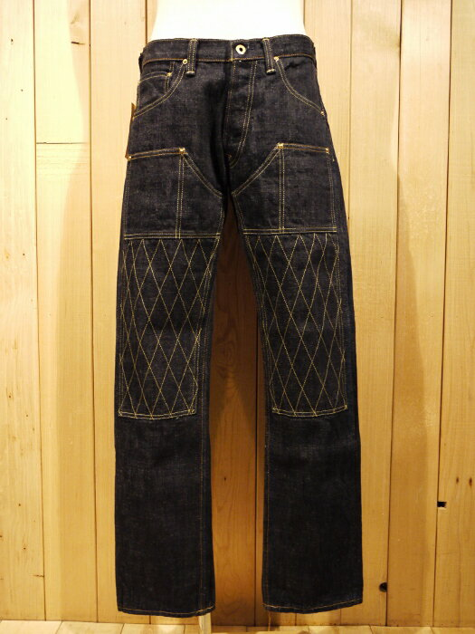 TROPHY CLOTHING トロフィークロージング 1608 W KNEE NARROW DIRT DENIM ダブルニーデニム ジーンズ