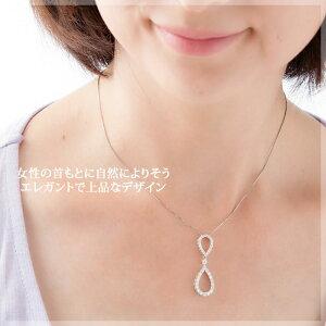 THJ「結〜YUI」ペアシェイプネックレスD0.8ctmodel