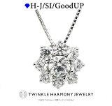 ダイヤモンド専門店THJ 0.5ct プラチナ900 THJ SUN〜太陽 ネックレス D0.5ct 高品質SIクラス以上 15石 ベネチアンチェーン あずきチェーン