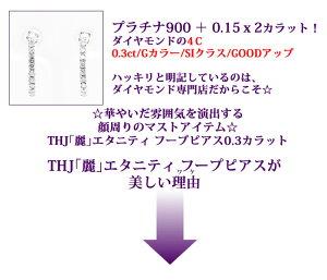 Pt900THJ「麗」エタニティフープピアスD0.3cte