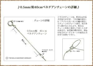 Pt8500.5mm/40cmベネチアンアジャカン付チェーン