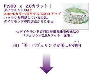 Pt900THJ「美」パヴェリングD2.0cte