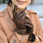 本革手袋【AntonioMurolo】イタリア製アントニオ・ムローロリボン付き羊革グローブ【ファッション送料無料祭0924】
