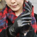 本革手袋【AntonioMurolo】イタリア製アントニオ・ムローロ羊革キルティングゴールドベルトグローブ