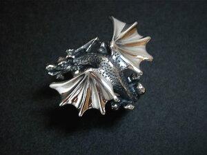◆こんなドラゴン見た事ない!ドラゴン(竜 龍)シルバーリング