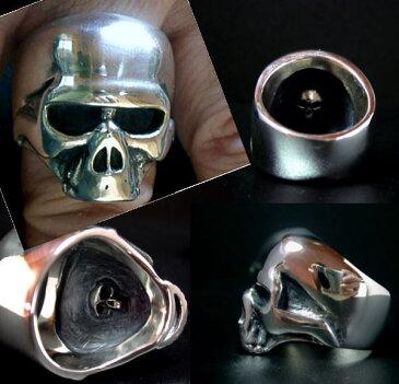 ◆【スカルK08シルバーリング】 Keith Skull Ring キースリングシルバーアクセサリーメンズアクセサリー レディース