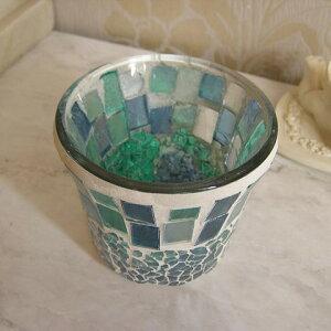 モザイクカップグラスホルダー/シエル