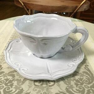 ホワイトストライプカップ&ソーサー