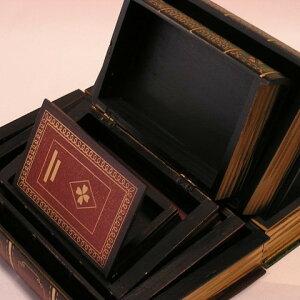アンティーク調本型収納(入り子)宝箱