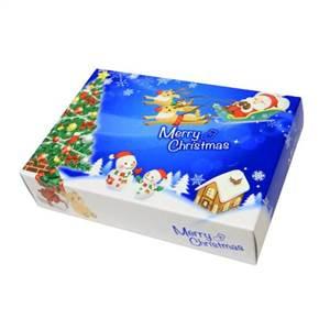 ハッピークリスマス ポストカード クリスマス BOXティッシュ 100個入 7068