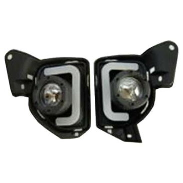 SoulMates 200系ハイエース 4型用フォグランプ&ブラケットキット LEDデイランプ機能付 WHLED SIフォグカバー BKステー GTA-020