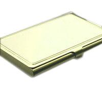 デコ素材ゴールド名刺&カードケースステンレス製