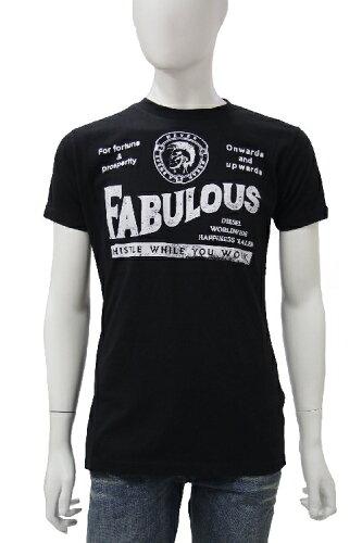 ディーゼル DIESEL Tシャツ 半袖 丸首 メンズ 00AKB1 R0V51 ブラック 当店一押 楽ギフ_包装 アウト...