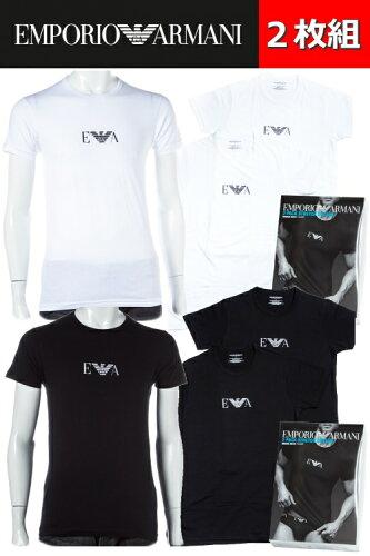 2枚組 アルマーニ エンポリオアルマーニ Emporio Armani Tシャツアンダーウェア Tシャツ 半袖 丸首...