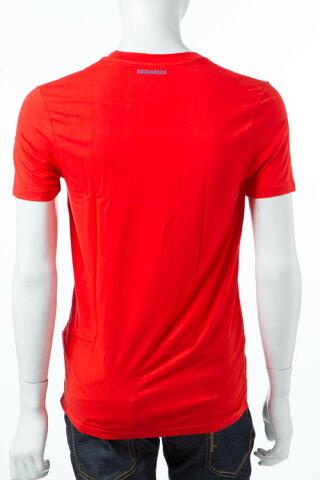 【お買い物マラソン 全品10%OFFクーポン配布中】ディースクエアード DSQUARED2 Tシャツアンダーウェア Tシャツ 半袖 Vネック メンズ D9M450910 レッド 送料無料 10%OFFクーポンプレゼント DSQ限定特価