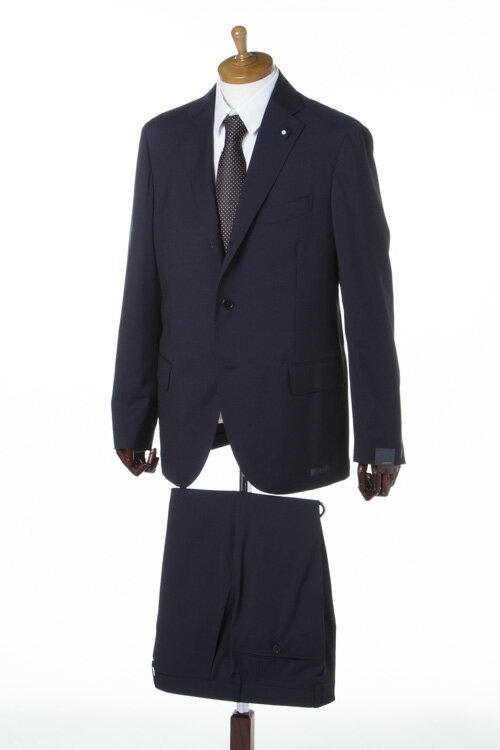 ラルディーニ LARDINI スーツ 2ピーススーツ シングル メンズ EA801AQ 46491 ネイビーA 送料無料 10%OFFクーポンプレゼント 【ラッキーシール対応】