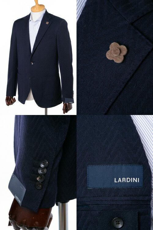 ラルディーニ LARDINI ジャケット テーラードジャケット シングル ST IG0557AE LORMA メンズ IG0557AE LORMA ネイビー  10%OFFクーポンプレゼント 【ラッキーシール対応】