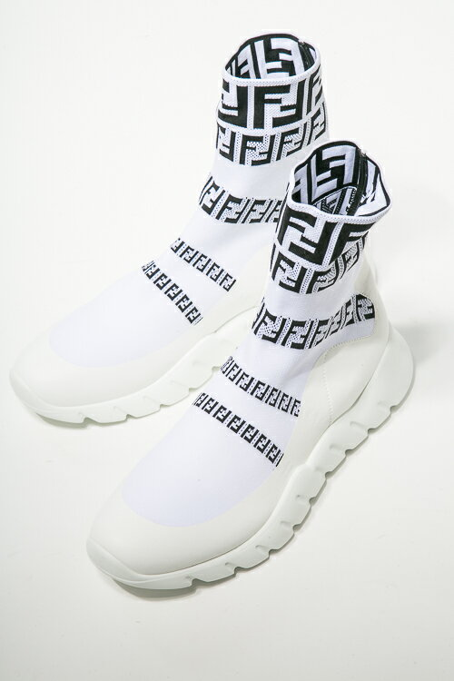 フェンディーFENDIスニーカーソックススニーカーシューズ靴メンズ7E1163A3XHホワイト送料無料3000円OFFクーポン