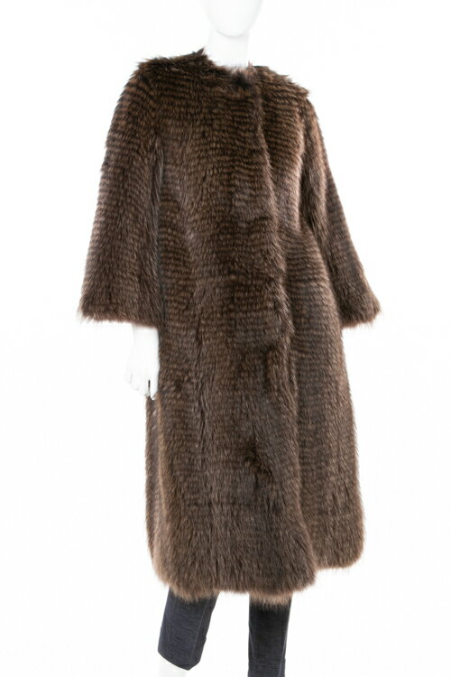 [Distributing 10% OFF coupons for all shopping marathons] DOLCE&GABBANA Leather Coat Fur Coat Ladies F0Q89F FUPT3 Brown Free shipping 10% OFF coupon gift