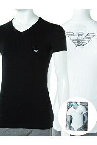 アルマーニ エンポリオアルマーニ Emporio Armani Tシャツアンダーウェア Tシャツ 半袖 Vネック メンズ 110810 CC735 ブラック 楽ギフ_包装 10%OFFクーポンプレゼント EA04値下げ 2004値下げ