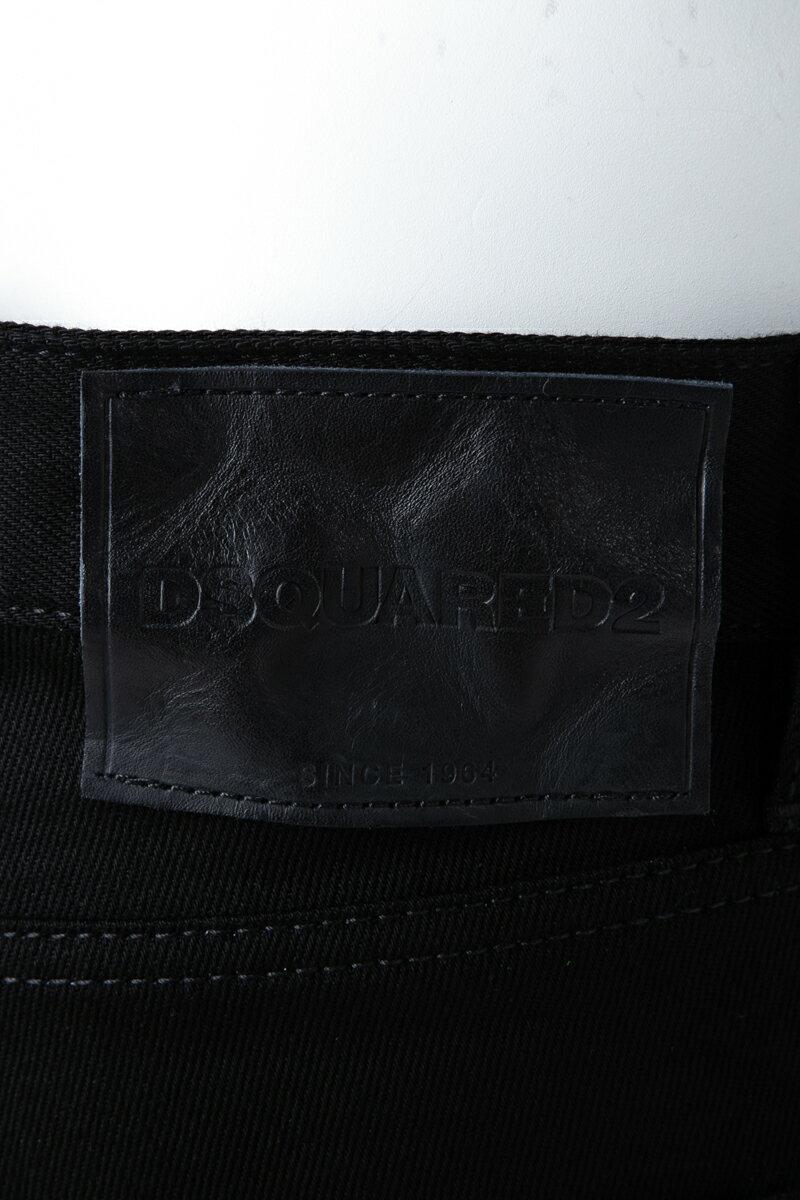 ディースクエアード DSQUARED2 ジーンズパンツ ブラックデニム REGULAR CLEMENT JEAN メンズ S71LB0417S30564 ブラック  楽ギフ_包装 10%OFFクーポンプレゼント 【ラッキーシール対応】