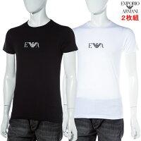 アルマーニエンポリオアルマーニエンポリオ・アルマーニEmporioArmaniTシャツアンダーウェアTシャツ半袖丸首メンズ111267CC715ブラックホワイト